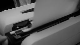 Typewriter dutch angle noir 2 Footage
