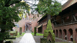 Castle of the Teutonic Order in Malbork - courtyar Footage