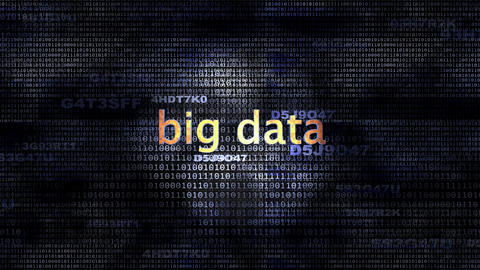 Big Data stock footage
