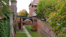 Castle of the Teutonic Order in Malbork - moat Footage