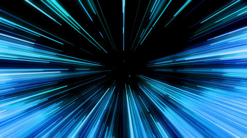 Blue beams seamless looping background. 4K Animación