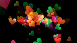 Colorful Hearts - Line Emitter - 02 Animation