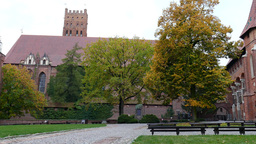 Teutonic Order castle in Malbork - the courtyard Footage