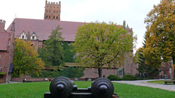 Teutonic Order castle in Malbork - cannons in the  Footage