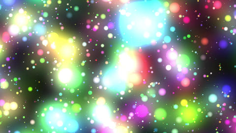 Bright Multicolored Glowing Starfield Loop 1 rotat Animation