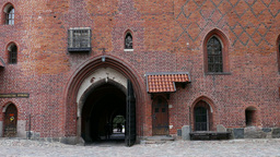 Teutonic Order castle - the gate and tower Footage