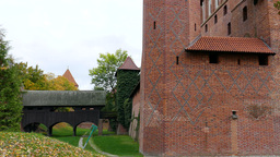 The Castle of the Teutonic Order in Malbork, Polan Footage
