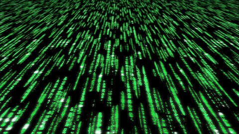 Matrix Code 3d - 4k 30fps Fast Loop, Green On Blac stock footage