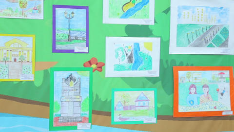 The exhibition of children's drawings Footage