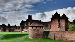 Teutonic Order Castle In Malbork - Timelapse stock footage