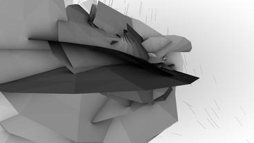 4k Abstract High Tech Geometry Deformation,patch S stock footage