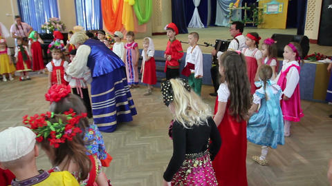 Children's spring festival Footage