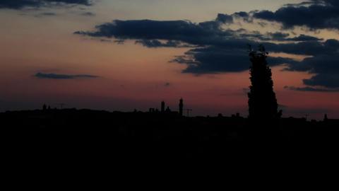 Locked-on Shot Of Sky, Siena, Tuscany, Italy stock footage