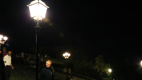 Pan shot of lampposts, Florence, Tuscany, Italy Footage