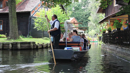 Tourist On A Boat Trip - Spreewald stock footage