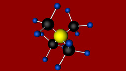 Tetramethylammonium Molecule Model - Chemistry stock footage
