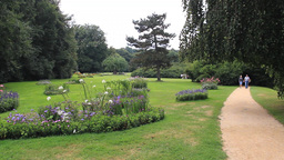 The Muskau park - famous English garden in Europe Live Action