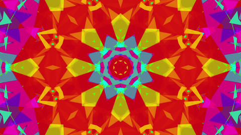 Fast Colorful Kaleidoscope VJ Background Loop 3 Animation