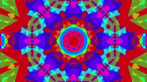 Fast Colorful Kaleidoscope VJ Background Loop 4 CG動画