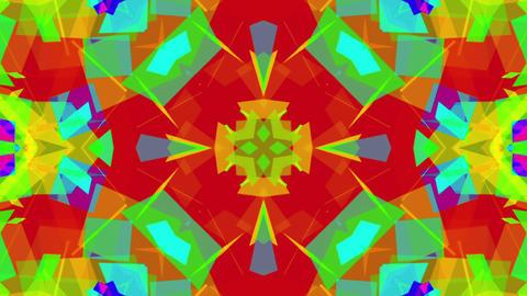 Fast Colorful Kaleidoscope VJ Background Loop 6 CG動画