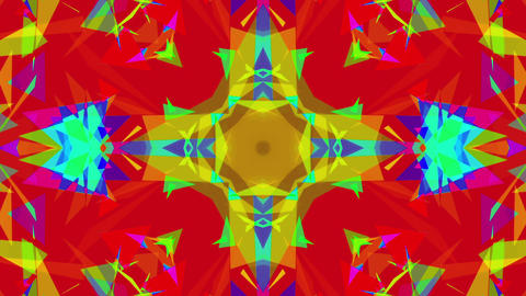 Fast Colorful Kaleidoscope VJ Background Loop 8 Stock Video Footage