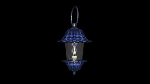 Crystal Lantern - Blue - Burning Loop - Alpha Animation