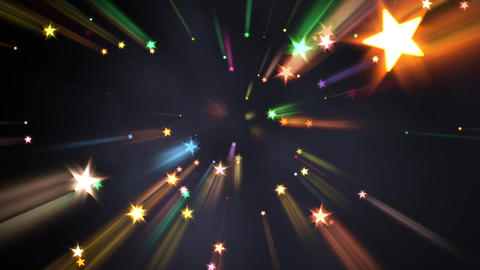 Holiday Fireworks - Stars In Rays - 03 Animation