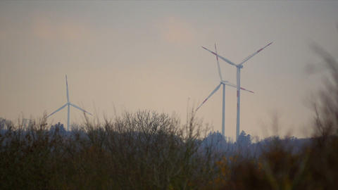 3 Power Poles, Wind Mills, Power Plant Footage