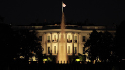 White House At Night Rack Focus In Washington D.C stock footage