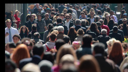 Crowd Of People Walking On A New York City Street stock footage