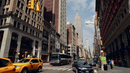 New York City Manhattan Street Empire State Buildi stock footage