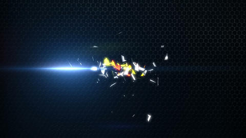 3D Spinning Particles Business Logo Build Intro After Effects Template