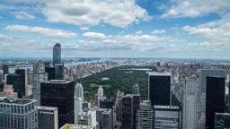 New York City Manhattan Central Park Skyline Time- stock footage