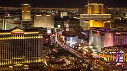 Las Vegas Strip Night Timelapse Zoom Constant Reso stock footage