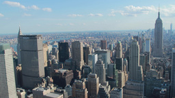 New York City Manhattan Buildings Skyline Earthqua stock footage