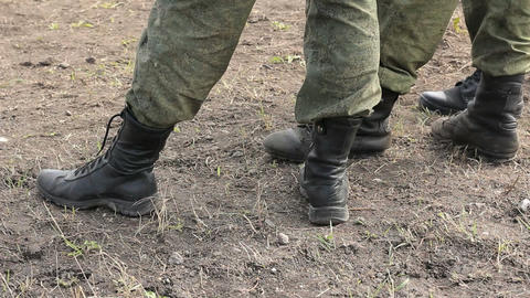 Soldiers boots feet Footage