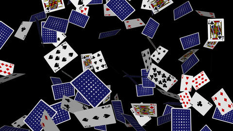 Poker Cards Explosion - 08 - Alpha stock footage