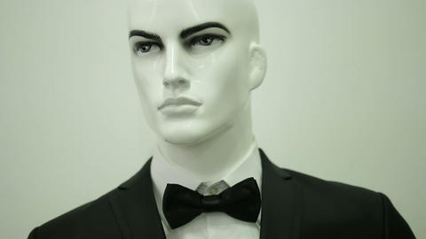 Bowtie On Mannequin stock footage