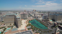 Las Vegas Strip Daytime Wide View stock footage