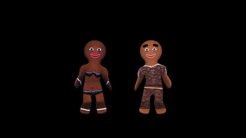 Gingerbread Dancers - Choco Pair - II - Alpha Animation