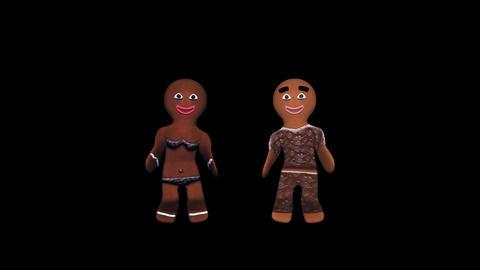Gingerbread Dancers - Choco Pair - II - Alpha Animation