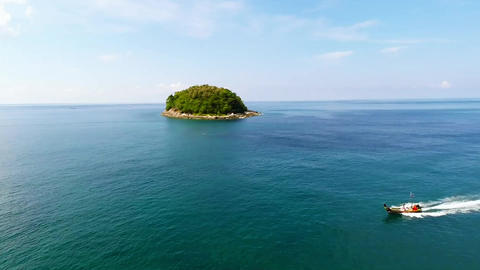 Aerial Panoramic Of A Island. Thailand Footage