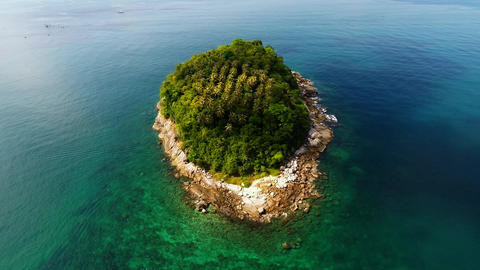 Paradise Island. Aerial view Footage