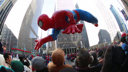 Thanksgiving Day Parade In New York City stock footage