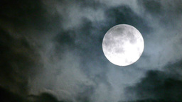 Real Full Moon Night Clouds Creepy No CG 24P Super stock footage
