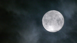 Real Full Moon Night Clouds Creepy No CG stock footage