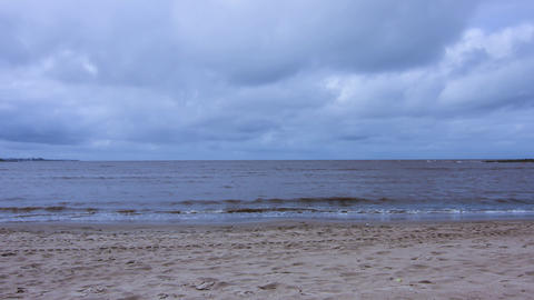 Stormy Ocean Time-lapse stock footage