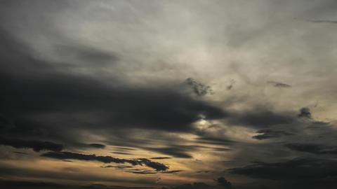Dark clouds gathering at nightfall Footage