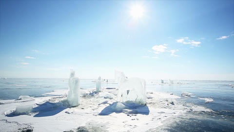 Ice Figures stock footage