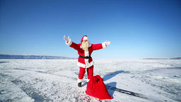 Santa Forgot A Bag With Gifts stock footage